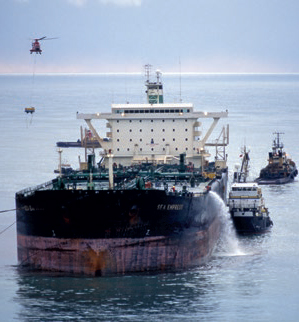 Sea Empress oil spill offshore UK 1996.