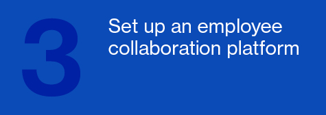 Set up an employee collaboration platform
