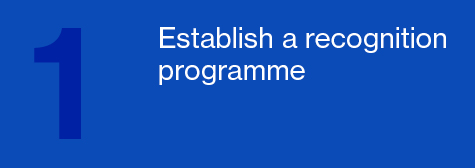 Establish a recognition programme