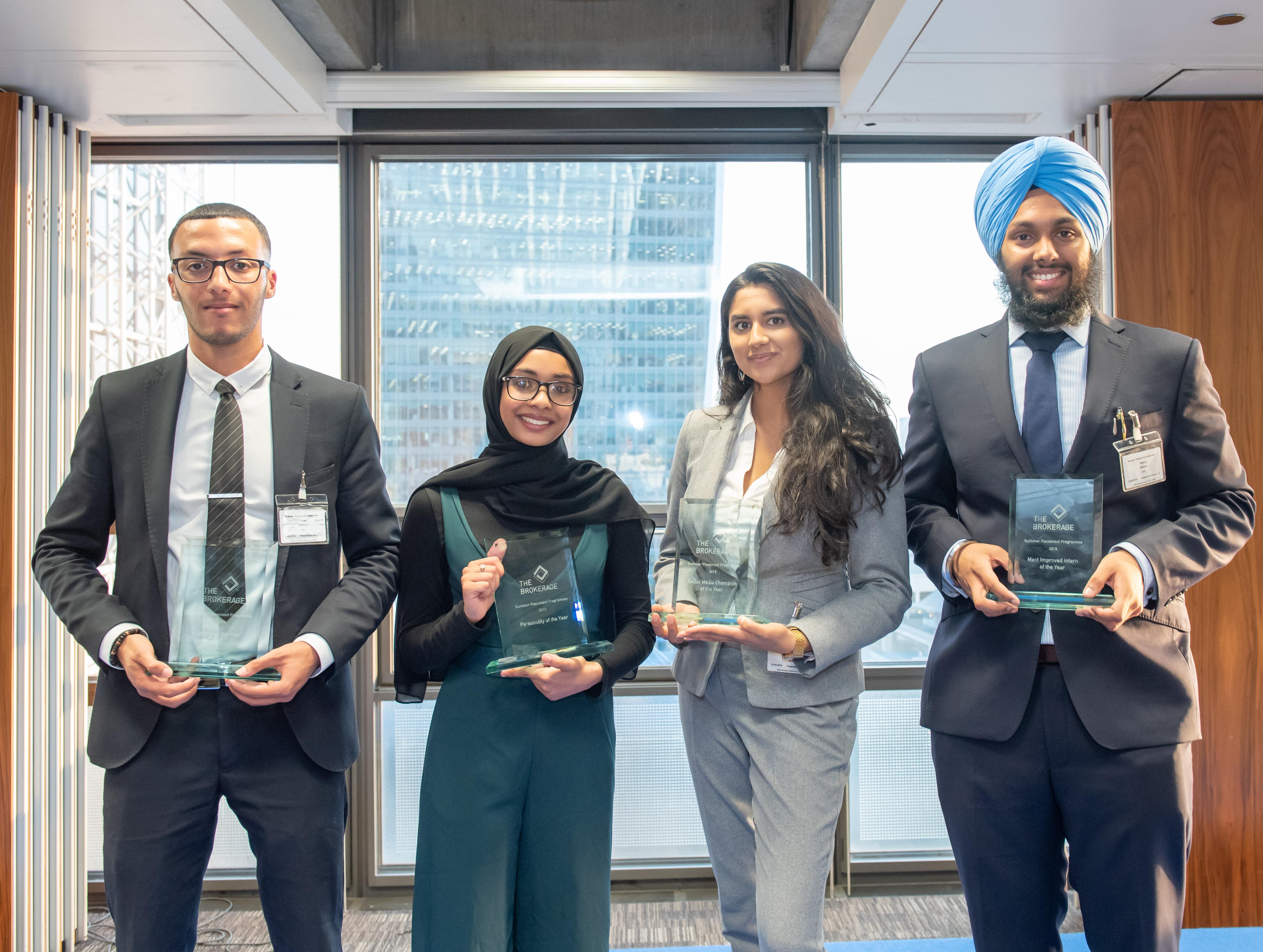 2019 Summer Placement Programme award winners