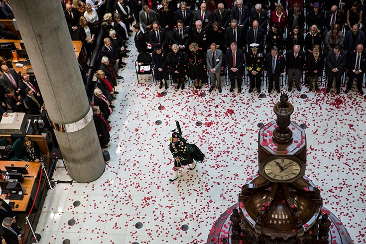 Lloyd's Remembrance Day ceremony