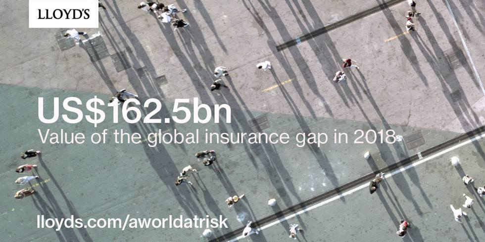 A world at risk - Insurance gap as % of GDP